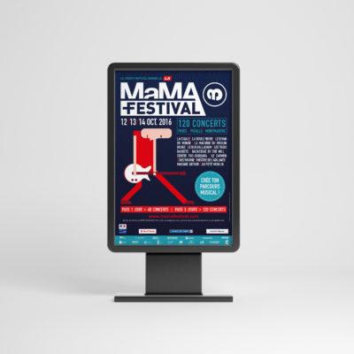MAMA FESTIVAL - conseil, conception graphique & déclinaisons (édition & digital)